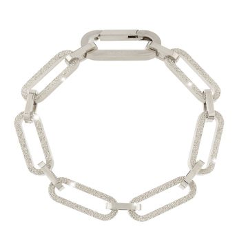 Bracciale Stockholm a catena grande diamantata - L