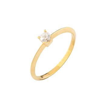 Anello Juliet Solitaire in oro 18kt e diamanti