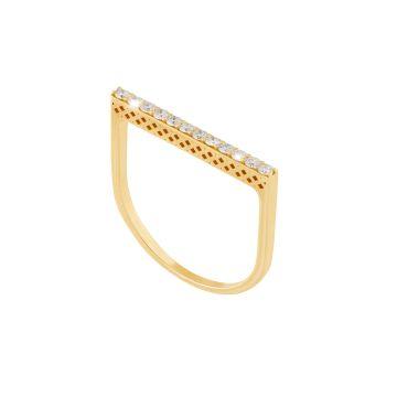 Anello Baguette Riviera in oro 18kt e diamanti