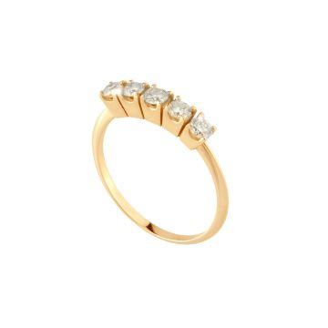 Anello Juliet Riviera in oro 18kt e diamanti