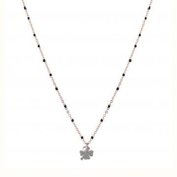 Collana Jolie in argento, pietre nere e diamanti
