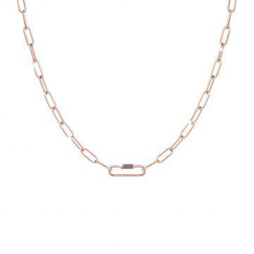 Collana Jolie a catena in argento con dettaglio in polvere di cristalli