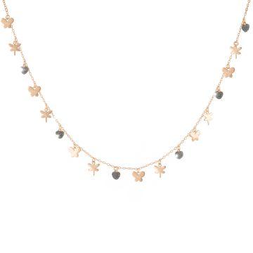 Collana Jolie in argento e polvere di diamante