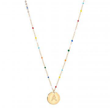Collana MyName con pietre colorate e pendente