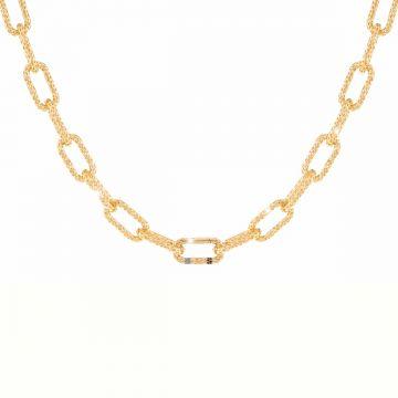 Collana Jolie a catena maglia grande in argento a lavorazione traforata