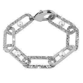 Bracciale Zero Pearl a catena diamantata con perle